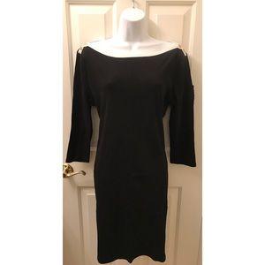 **RALPH LAUREN** Black Boatneck Dress Size: XL